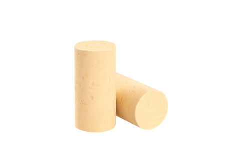 Semi-finished colmated cork stoppers