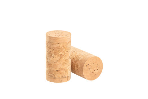 Finished 3-piece cork stoppers (1+1)